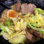 八王子 横浜家系 まるに家 ラーメン キャベチャー トッピング玉ねぎ 味付玉子