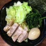 八王子 横浜家系 ラーメン まるに家 家系つけ麺 並 味玉